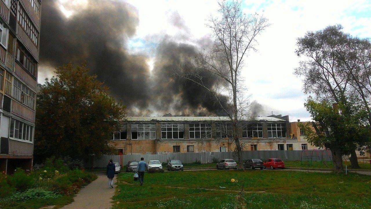 ВОрле наГерцена горела спортивная школа