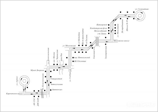 СХЕМА маршрута № 6