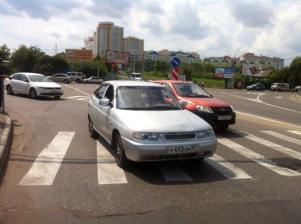 ВОрле наБолховском шоссе случилось два ДТП за 5 минут
