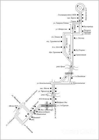 СХЕМА маршрута № 43