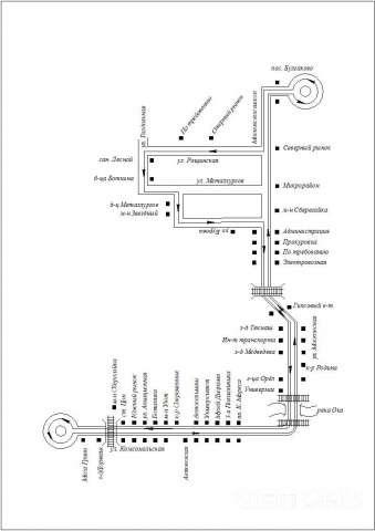 СХЕМА маршрута № 8