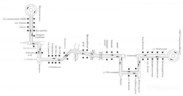 СХЕМА маршрута № 14