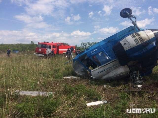 Вертолет «Газпрома» аварийно сел вОрловской области