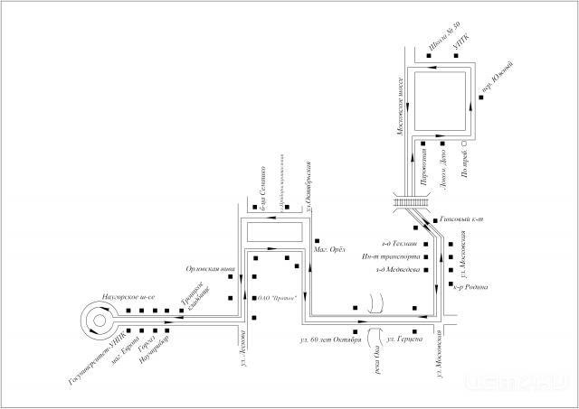 СХЕМА маршрута № 47