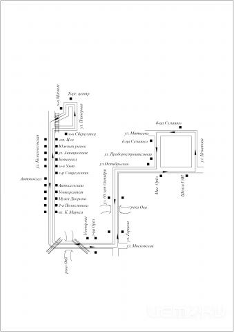 СХЕМА маршрута № 57