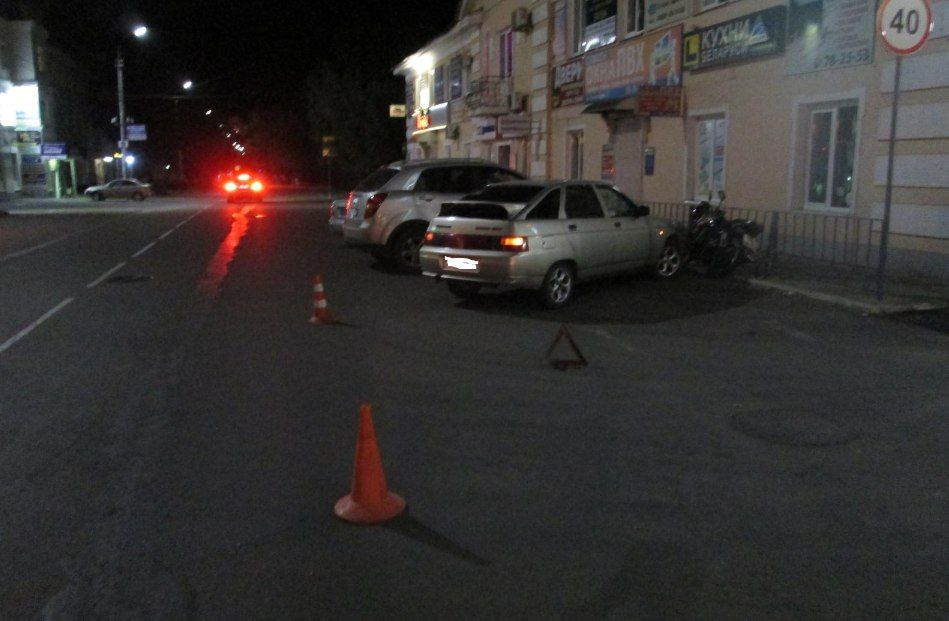ВОрле мотоциклист сбил пешехода иврезался вавтомобиль
