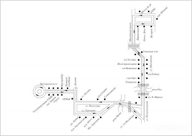 СХЕМА маршрута № 48